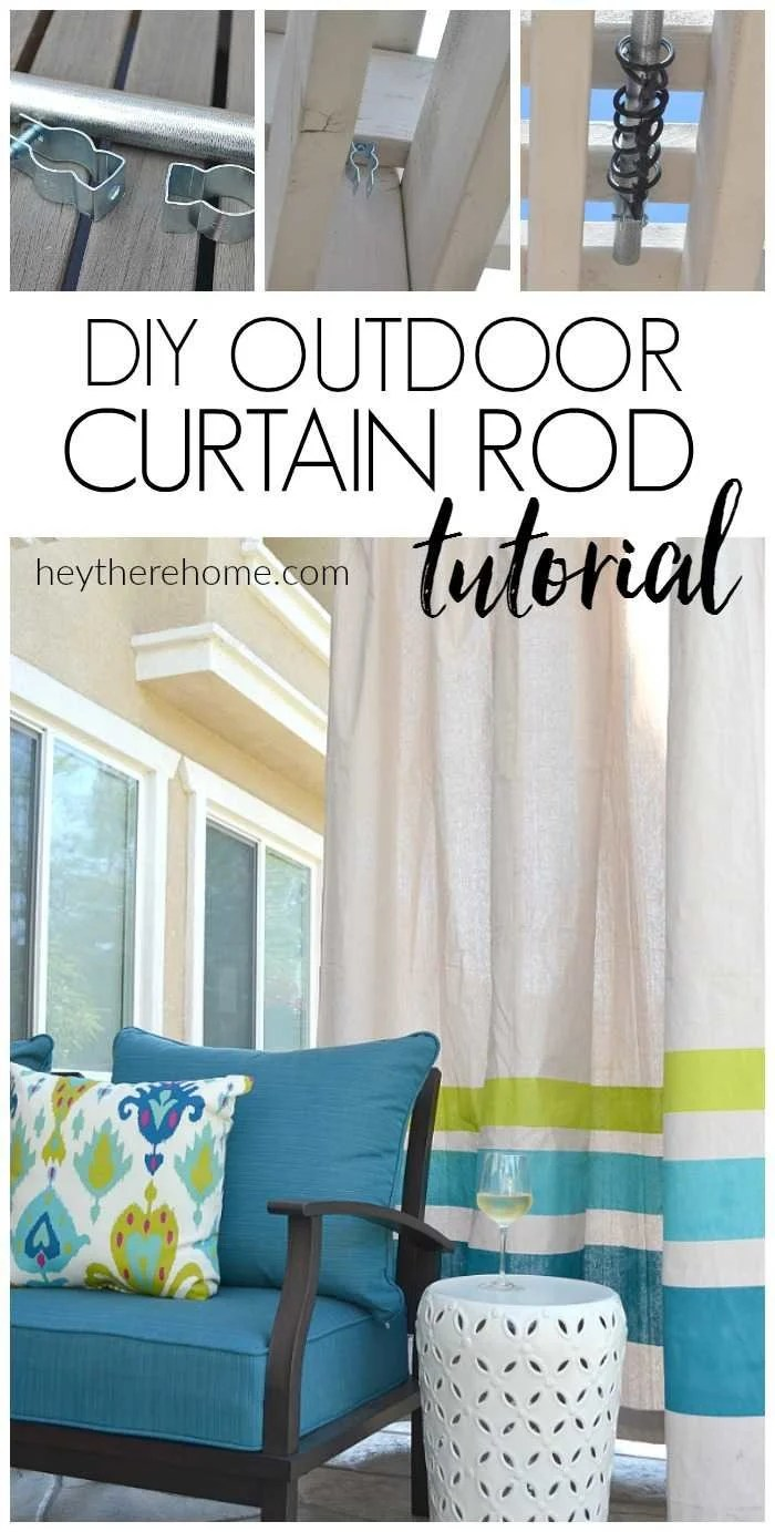 Outdoor Curtain Fabric By The Yard How To Make An Outdoor Curtain Rod For Very Little Money