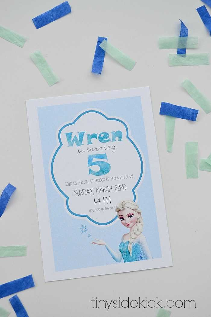 Free Printable Frozen Birthday Party Invitations