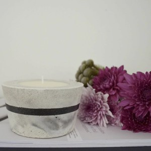 Scented, Marble Look, Concrete Candle Product Image