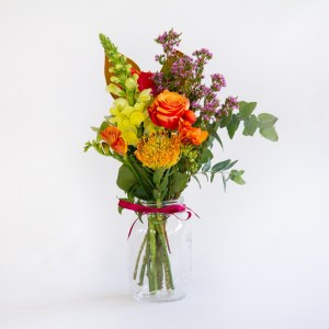 FRESH FLOWER POSY - IN JAR