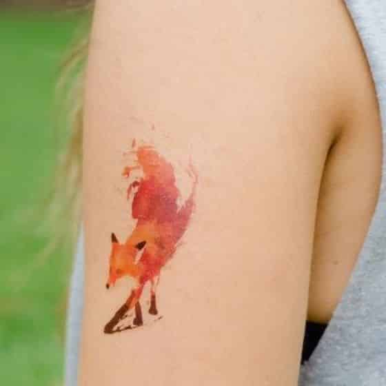 fox tattoo diseño