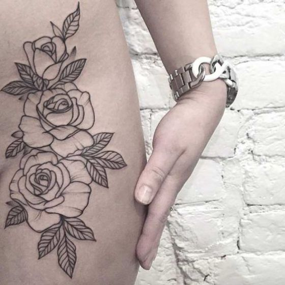 rose tattoo tumblr - Pesquisa Google tatuagem Pinterest - tatuajes de rosas