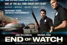 End of Watch UK Quad Poster 220x150 New 60 Second UK TV Spot for End of Watch with Jake Gyllenhaal & Michael Peña