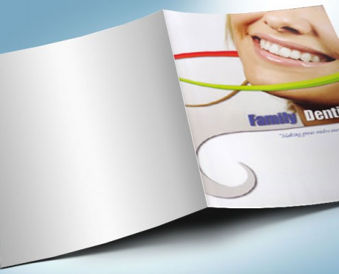 dentist pocket folder graphic design