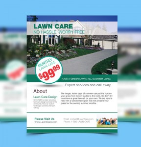 Advertising Flyer Design Lawn Care
