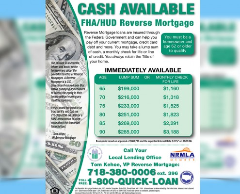 Advertising Flyer Design Reverse Mortgage