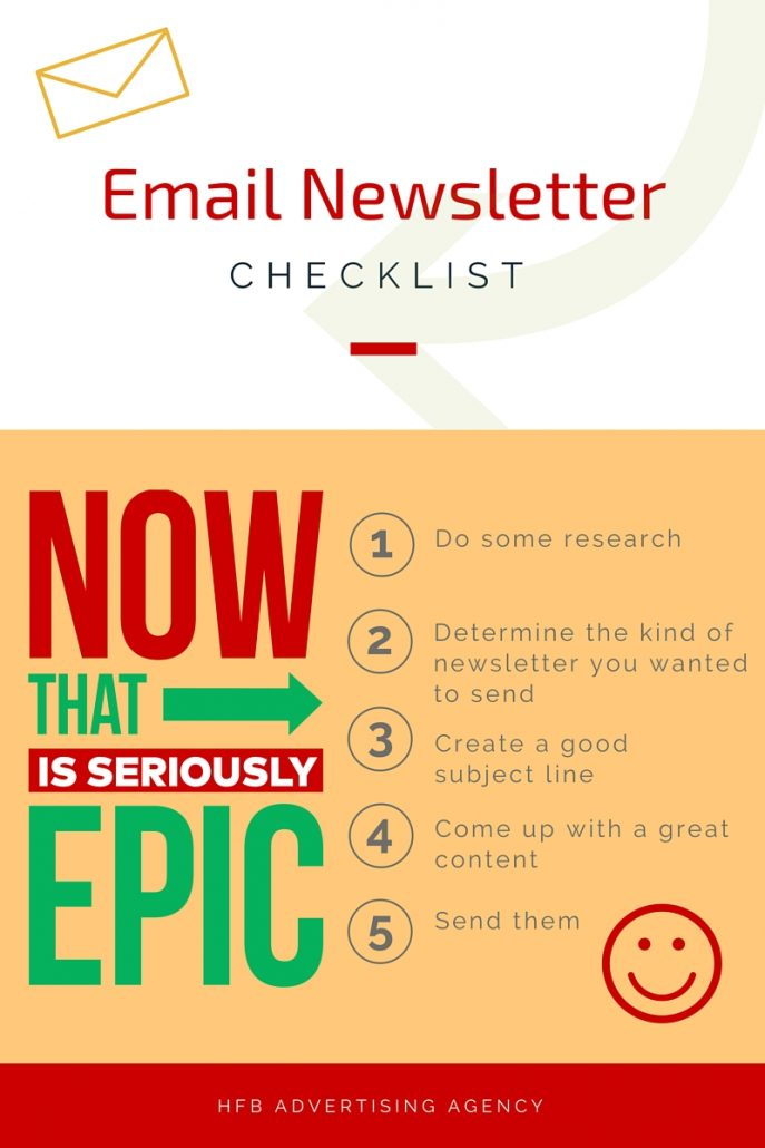 email newsletter infographic