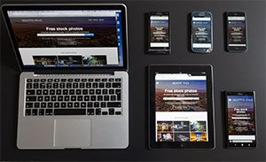web design on different devices