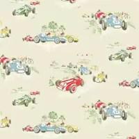 Cath Kidston Vintage Racing Car Wallpaper Childrens Wallpaper Kids Bedroom Wallpaper Amp Murals