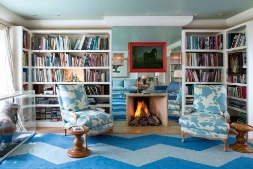 Medium Of Blue Living Room