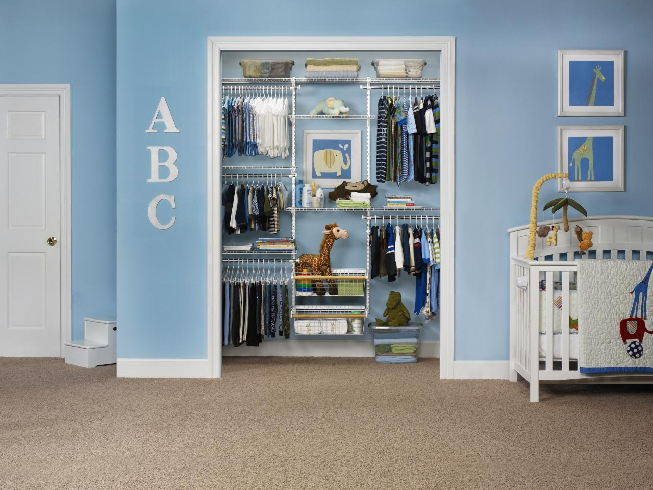 Closet Storage Solutions Baby Closet Organizers And Dividers Hgtv