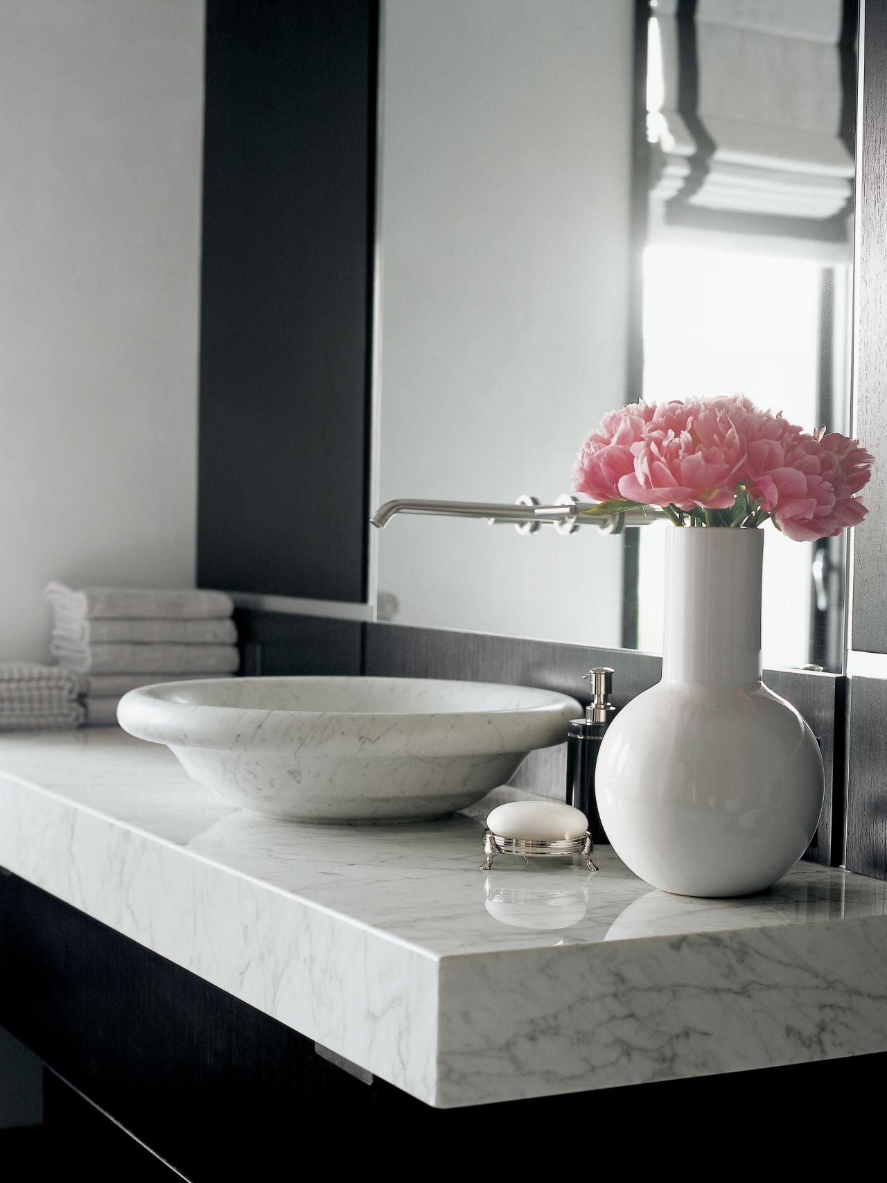 Bathrooms With Marble Countertops Marble Countertops Hgtv