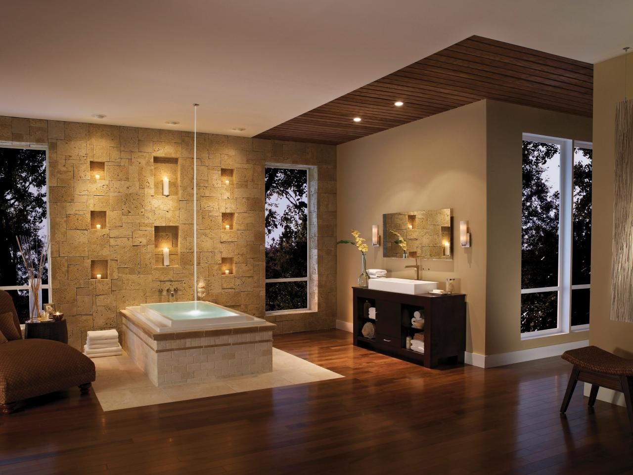 Salon Master Spa Inspired Master Bathroom Hgtv