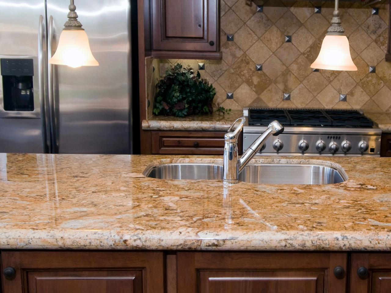 Neutral granite countertops