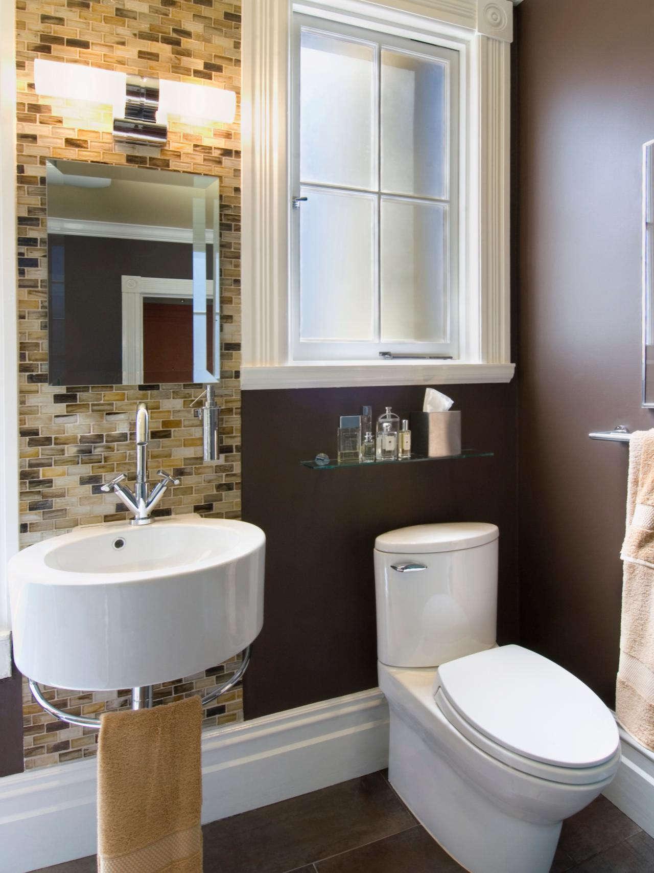Small Bathroom Images Modern Small Bathrooms Big Design Hgtv