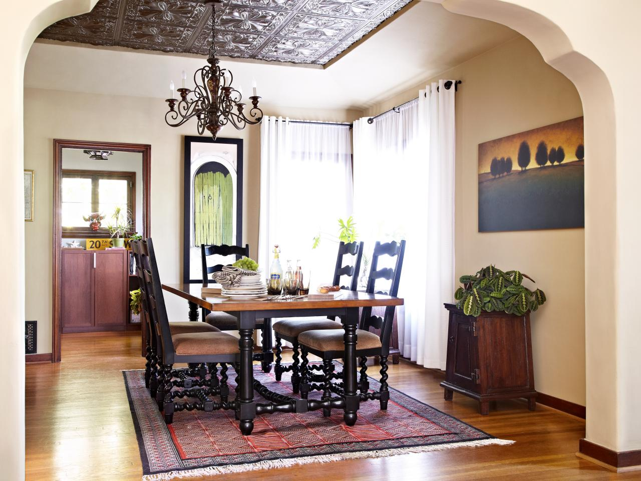 Dining Room Tile Ideas How To Install Tin Ceiling Tiles Hgtv