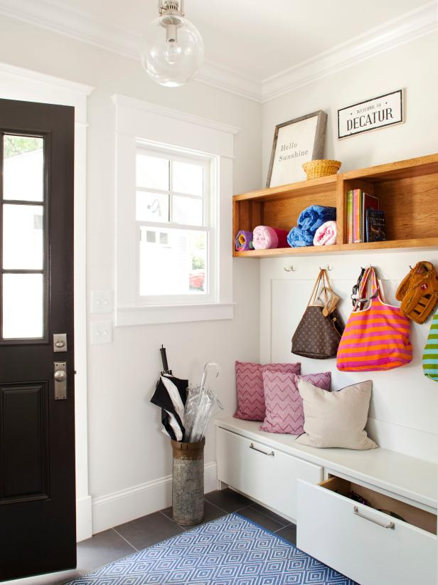 Mudroom Bench Ikea Declutter Your Entryway With These Tips | Hgtv