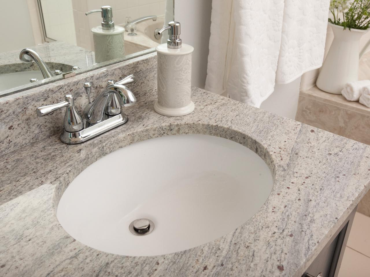 Bathrooms With Marble Countertops Undermount Bathroom Sinks Hgtv