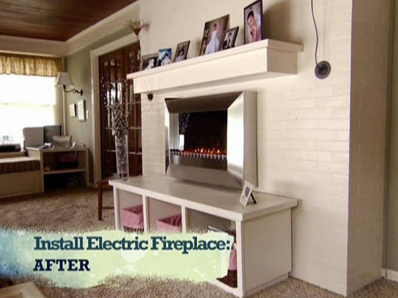 Build Your Own Fireplace Insert Install An Electric Fireplace With Custom Built Mantel And Hearth