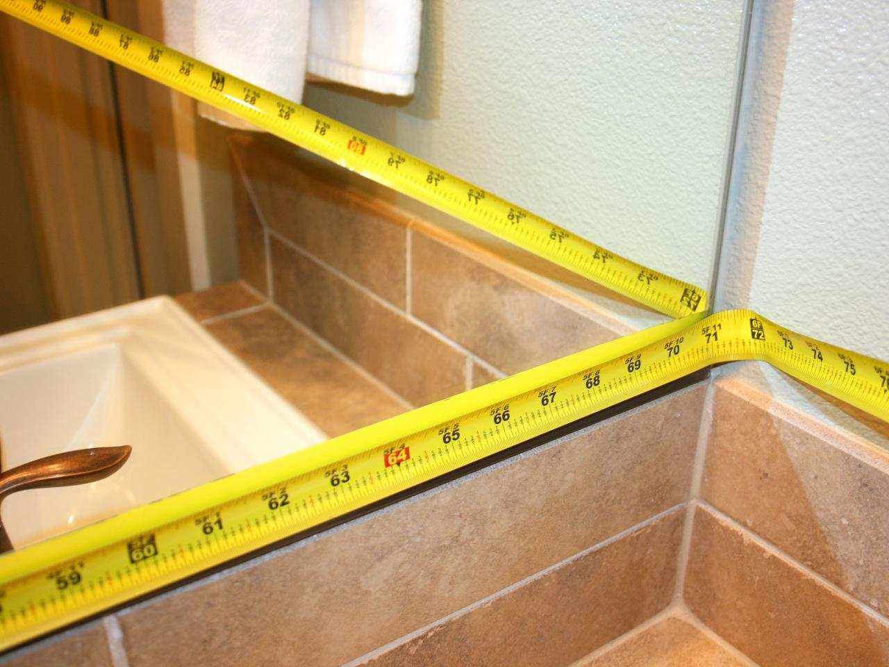 How To Frame Mirror In Bathroom How To Frame A Mirror Hgtv