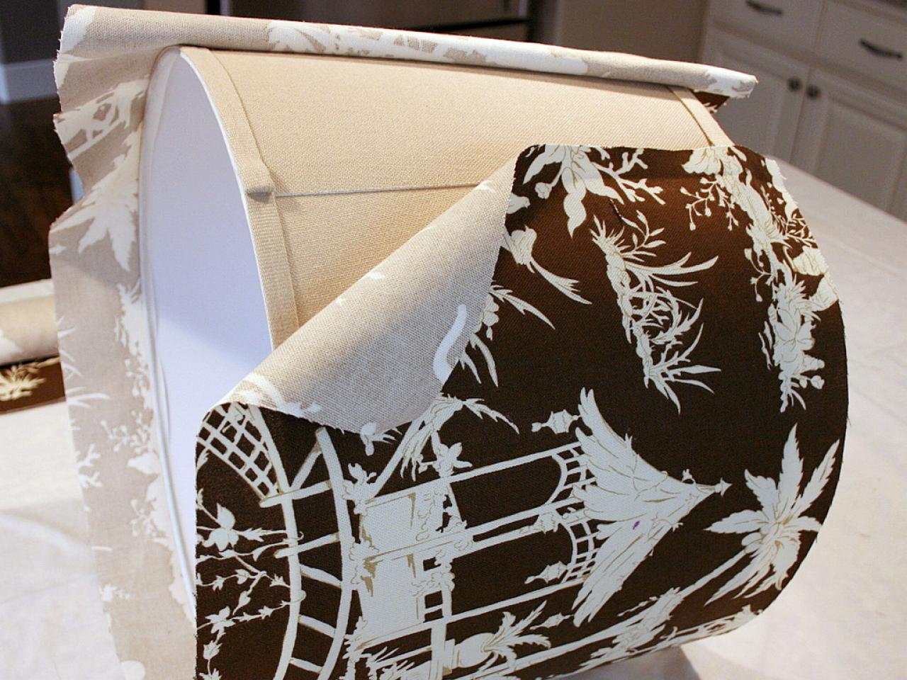 Diy Lampshade Cover Custom Fabric Covered Lampshade Hgtv