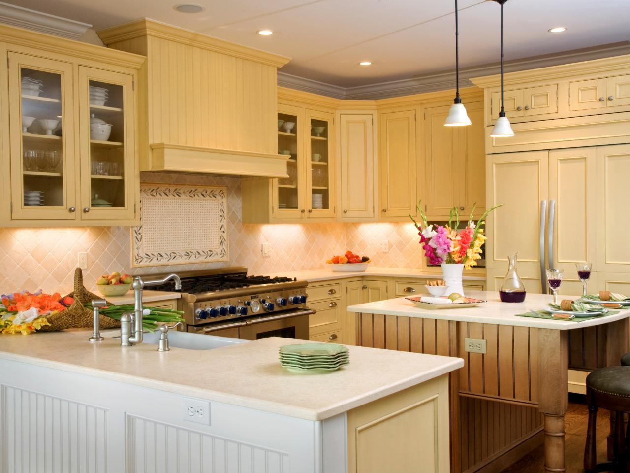 Kitchen Design Yellow Cabinets Photo Page Hgtv