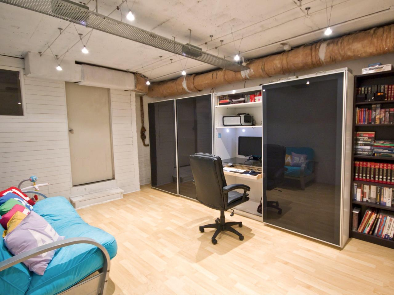 Basement Offices Ideas 14 Smart Design Ideas For Underused Basements Hgtv 39s