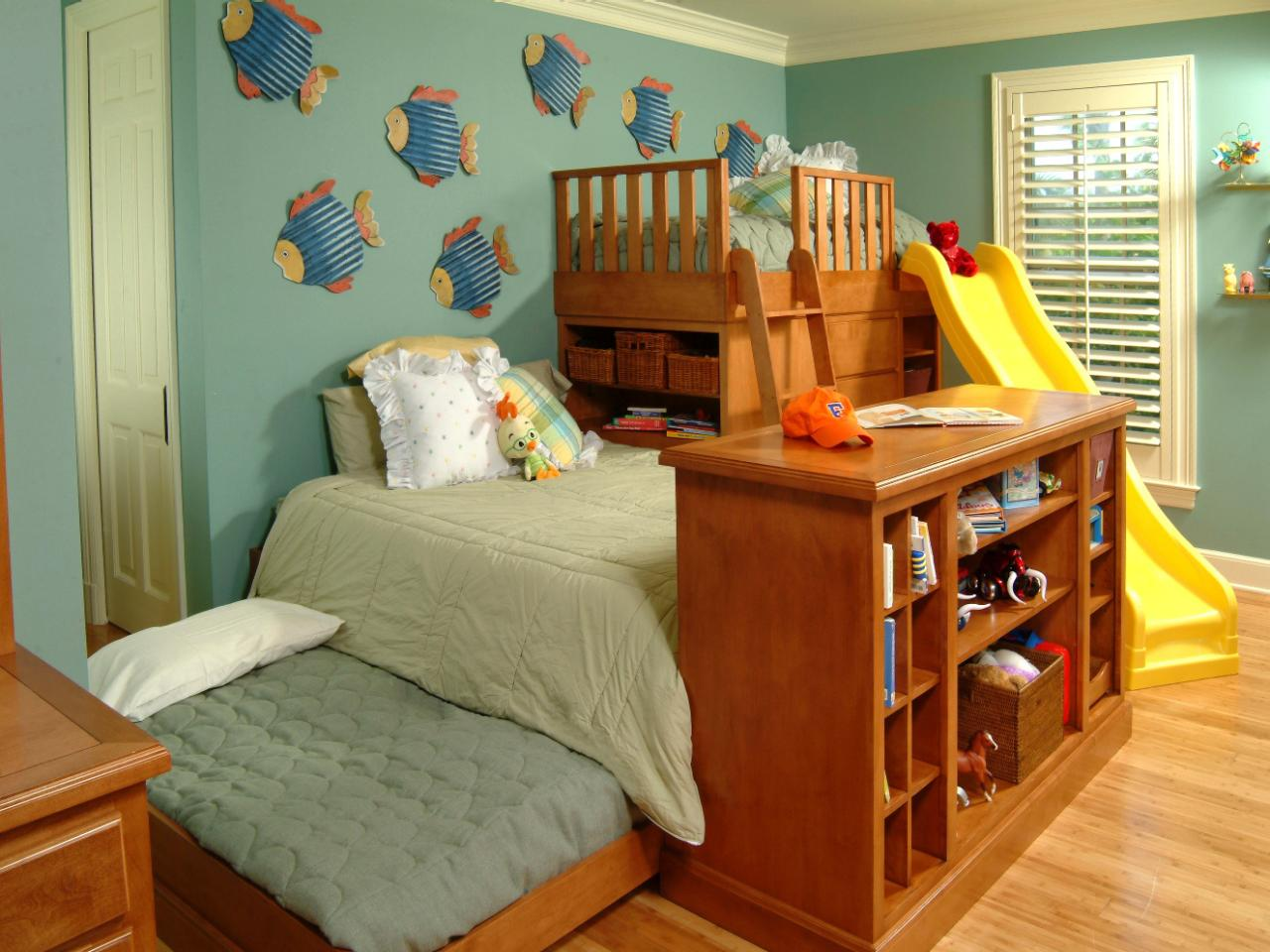 3 Twin Beds In The Space Of 1 Kids 39 Rooms Storage Solutions Hgtv
