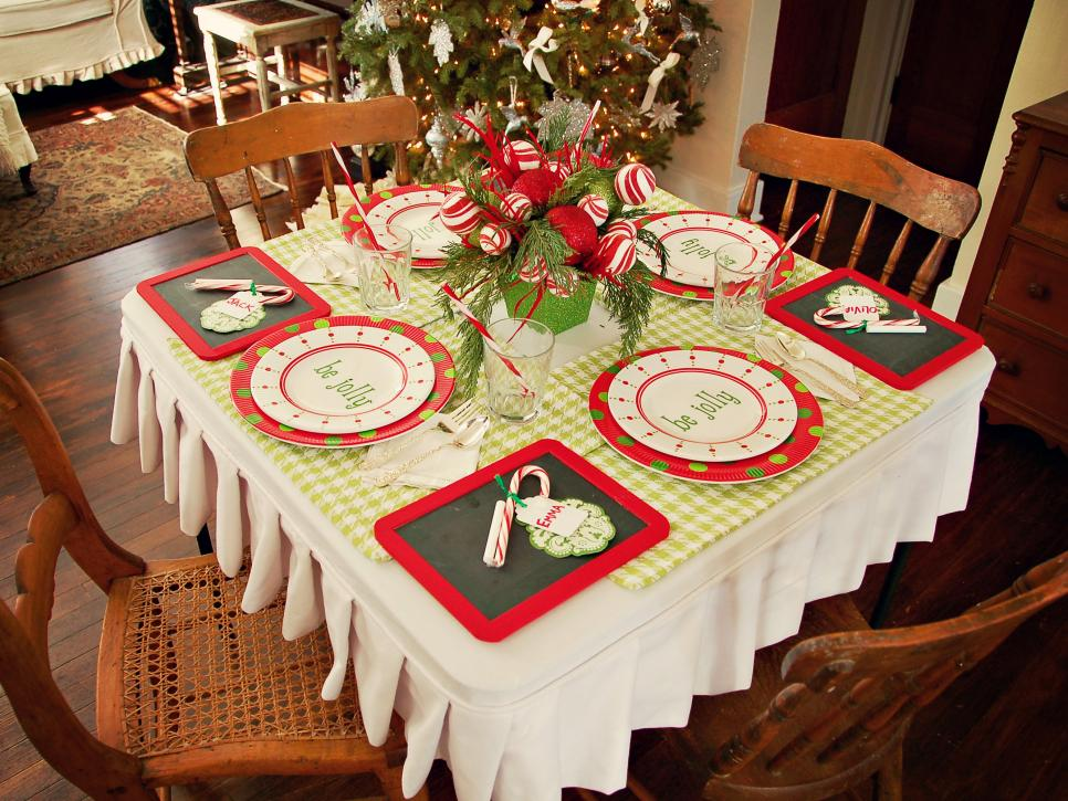 Create A Festive Holiday Kids39 Table Hgtv