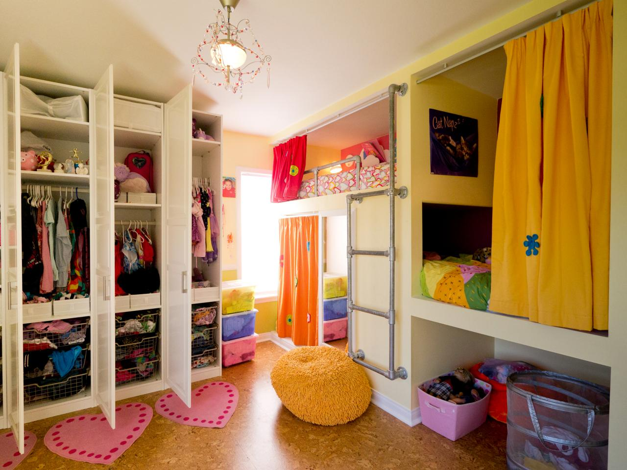 Kids Room Ideas For Girls Creative Shared Bedroom For Three Girls Kids Room Ideas