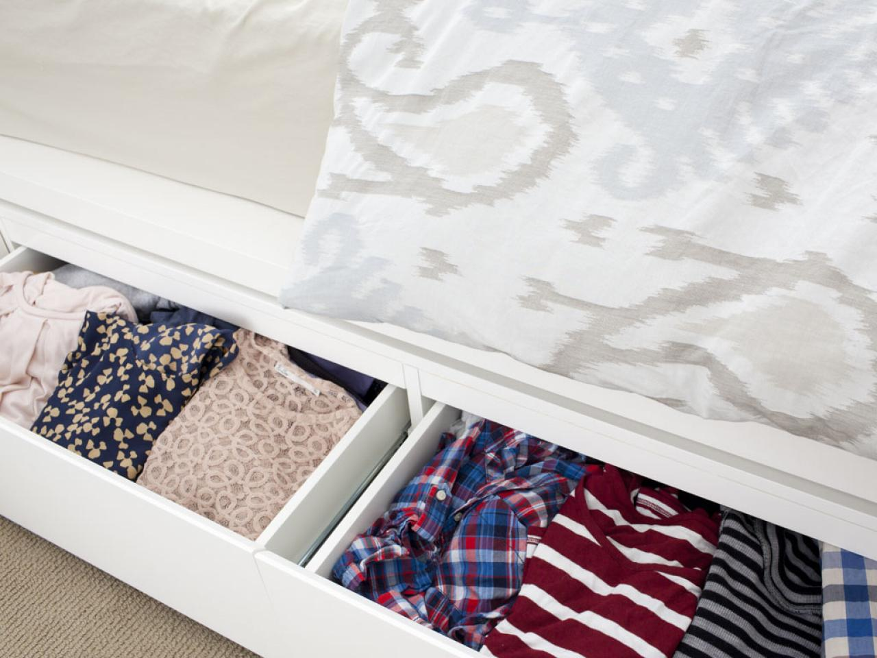 Clothing Storage Ideas For Small Bedrooms 10 Ways To Maximize Under-the-bed Storage | Hgtv