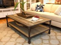 rustic details a reclaimed lumber coffee table features ...