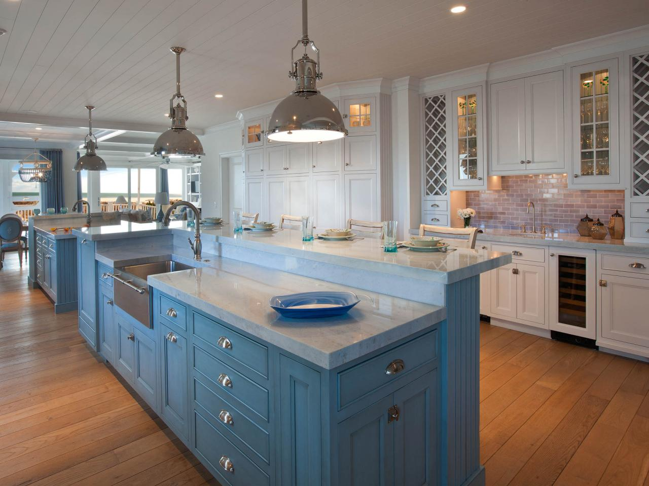 Beach Style Kitchen Cabinets White Coastal Kitchen Pictures By The Serene Seaside