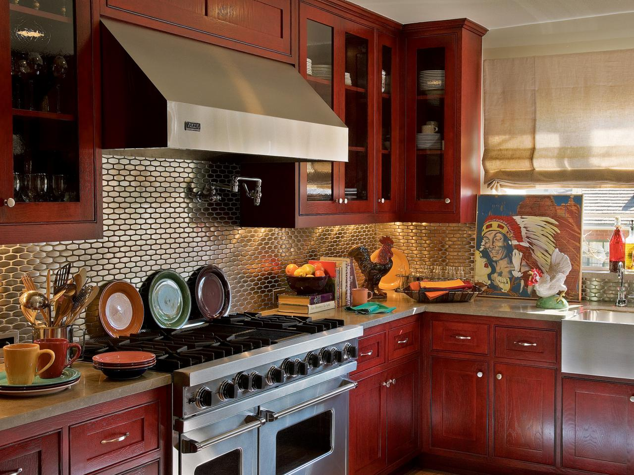 Kitchen Cabinets Red Kitchen Cabinet Paint Colors Pictures And Ideas From Hgtv