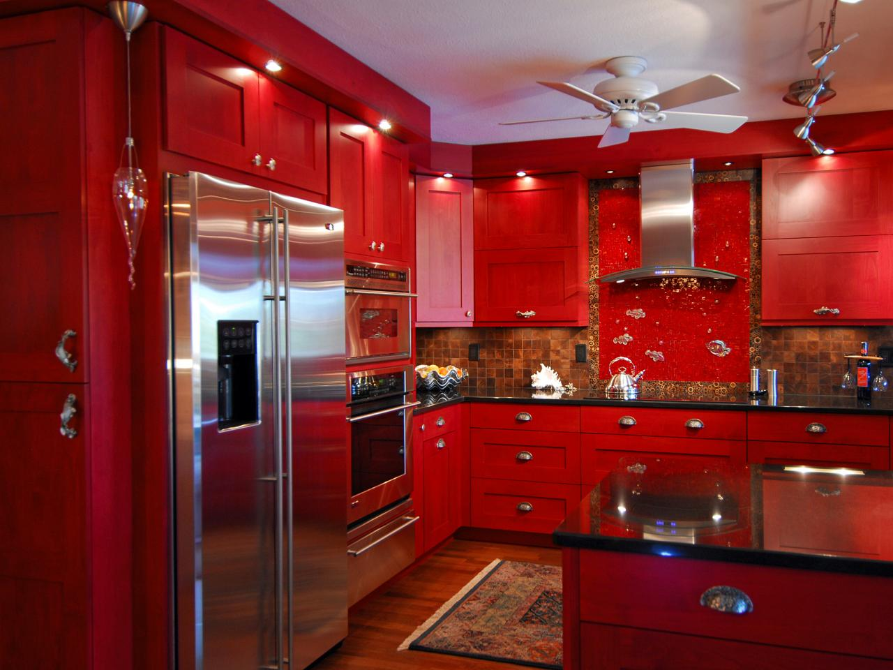 Kitchen Cabinets Red Red Eclectic Kitchen Photos Hgtv
