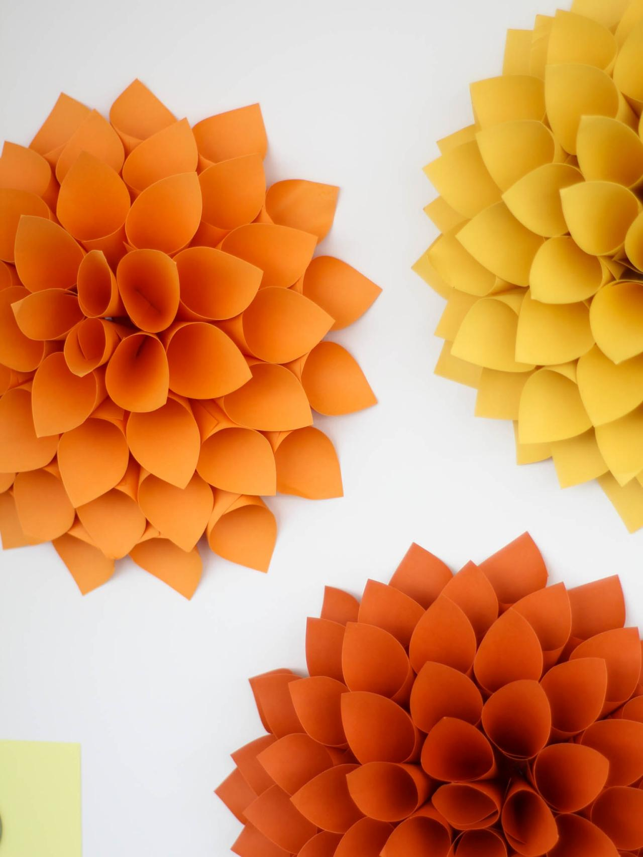 Art Decorating And Crafting Easy Diy Craft Paper Dahlias Hgtv