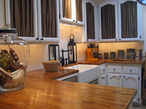 White Kitchen Island With Butcher Block Top Wood Kitchen Countertops: Pictures & Ideas From Hgtv | Hgtv