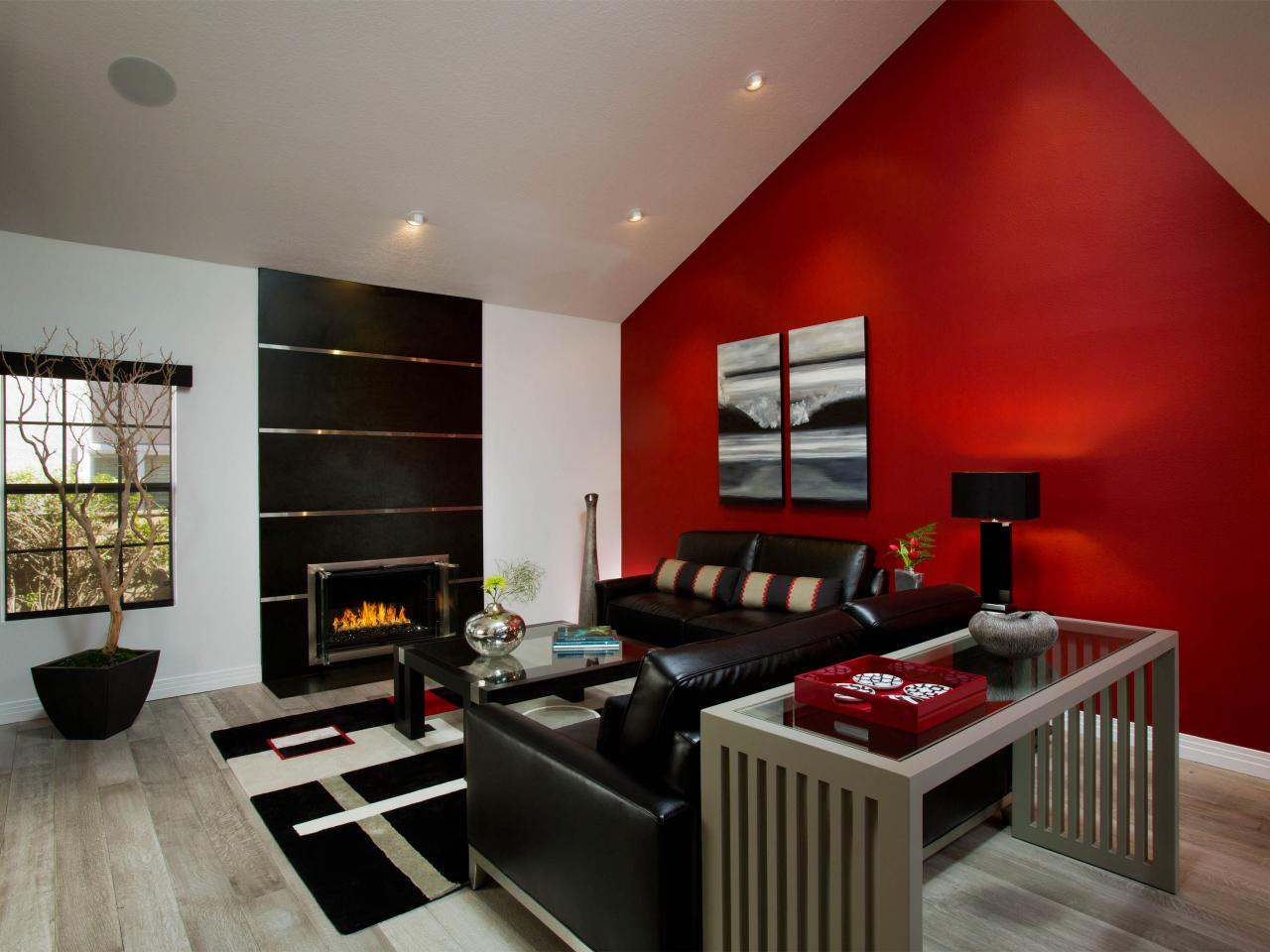 Red Wall Living Room Photo Page Hgtv