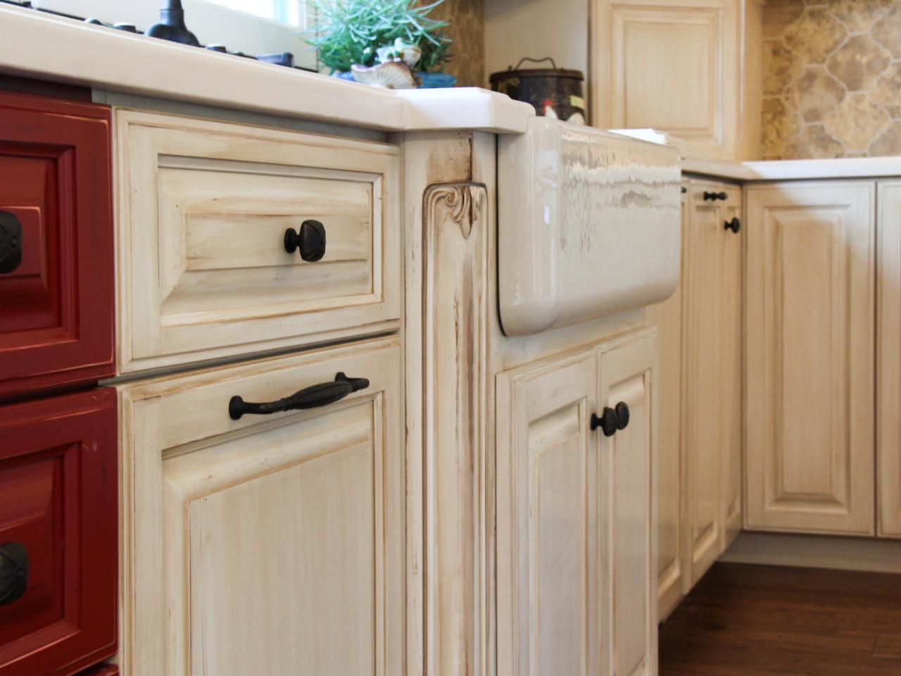 French White Kitchen Cabinets Red And White Kitchen Cabinets And Farmhouse Sink Hgtv
