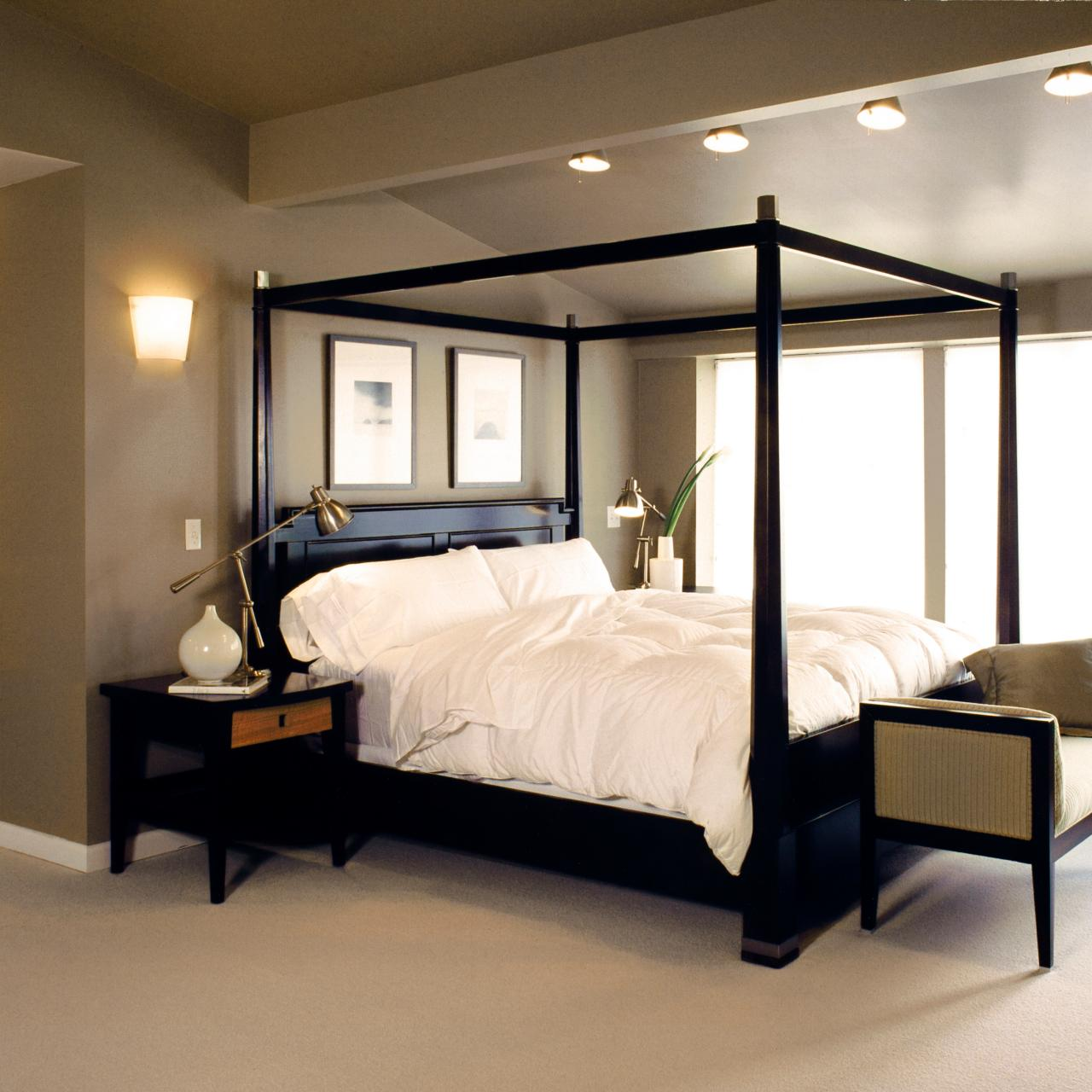 Black Four Post Bed Photo Page Hgtv