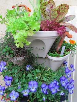 Multipurpose Stackable Vertical Stackable Planters Vertical Planter Ideas Summer Decorating Design Upright Garden Planters