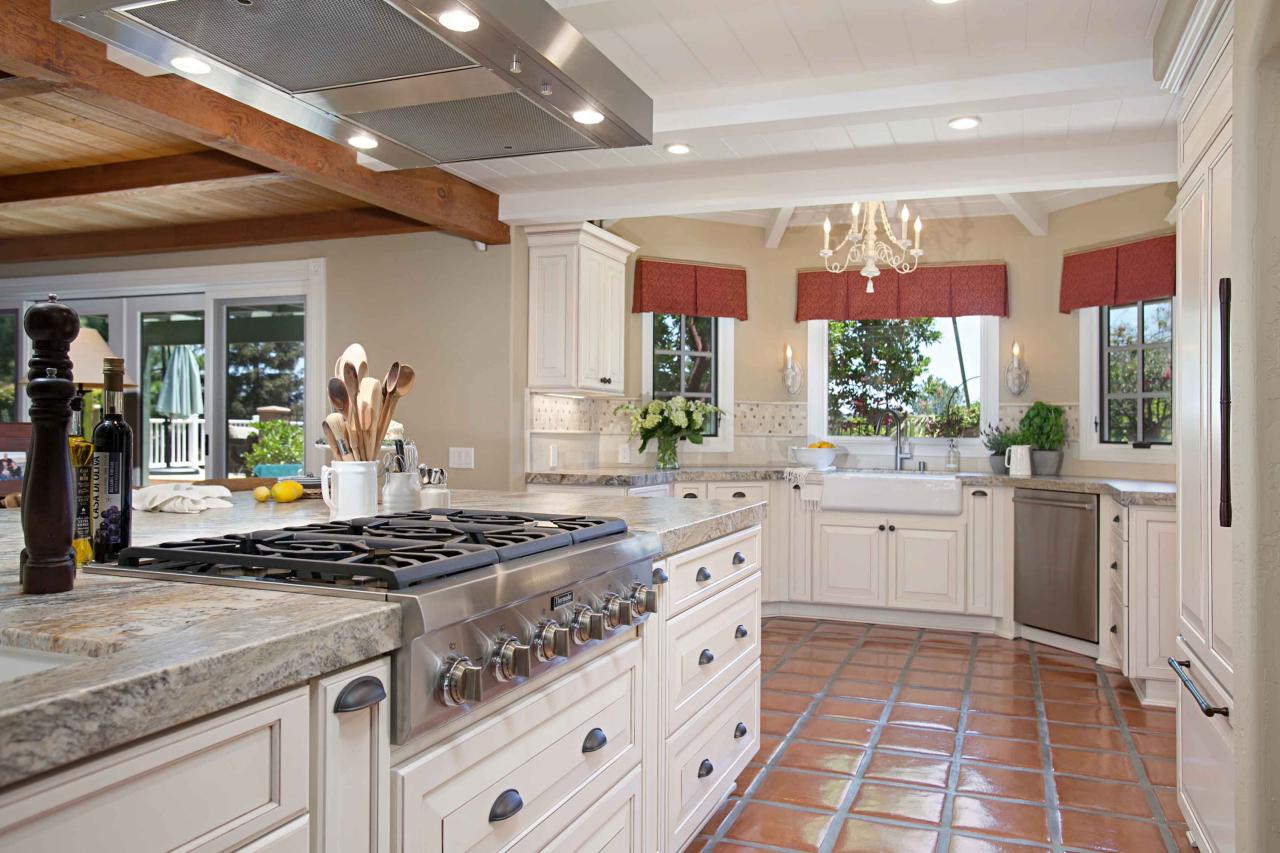 French White Kitchen Cabinets French Country Inspired Kitchen With White Cabinets Hgtv