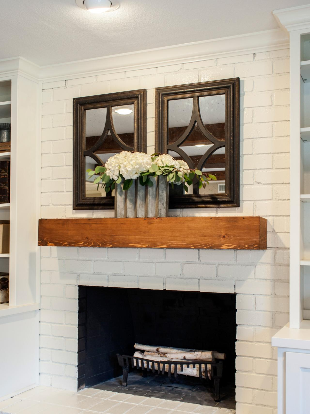How To Decorate Fireplace How To Decorate Your Fireplace In The Summer Hgtv S Decorating