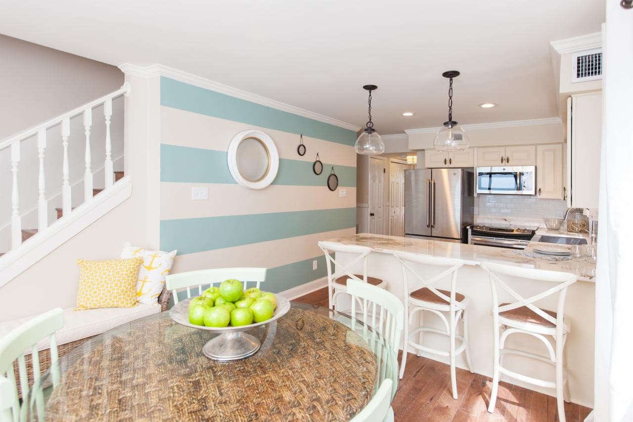 Beach Style Kitchen Cabinets A Traditional Beach House With Nautical Details Beach