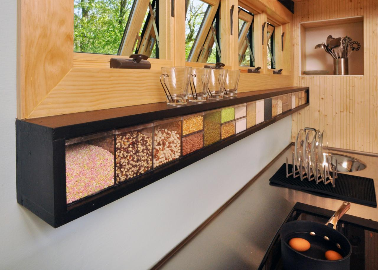 Peaceably Tiny Toybox Home Kitchen Storage Ideas From Tiny House Dwellers Hgtv Tiny House Kitchen Sink Tiny House Kitchen Counter Depth Now Food Storage Cubes curbed Tiny House Kitchen