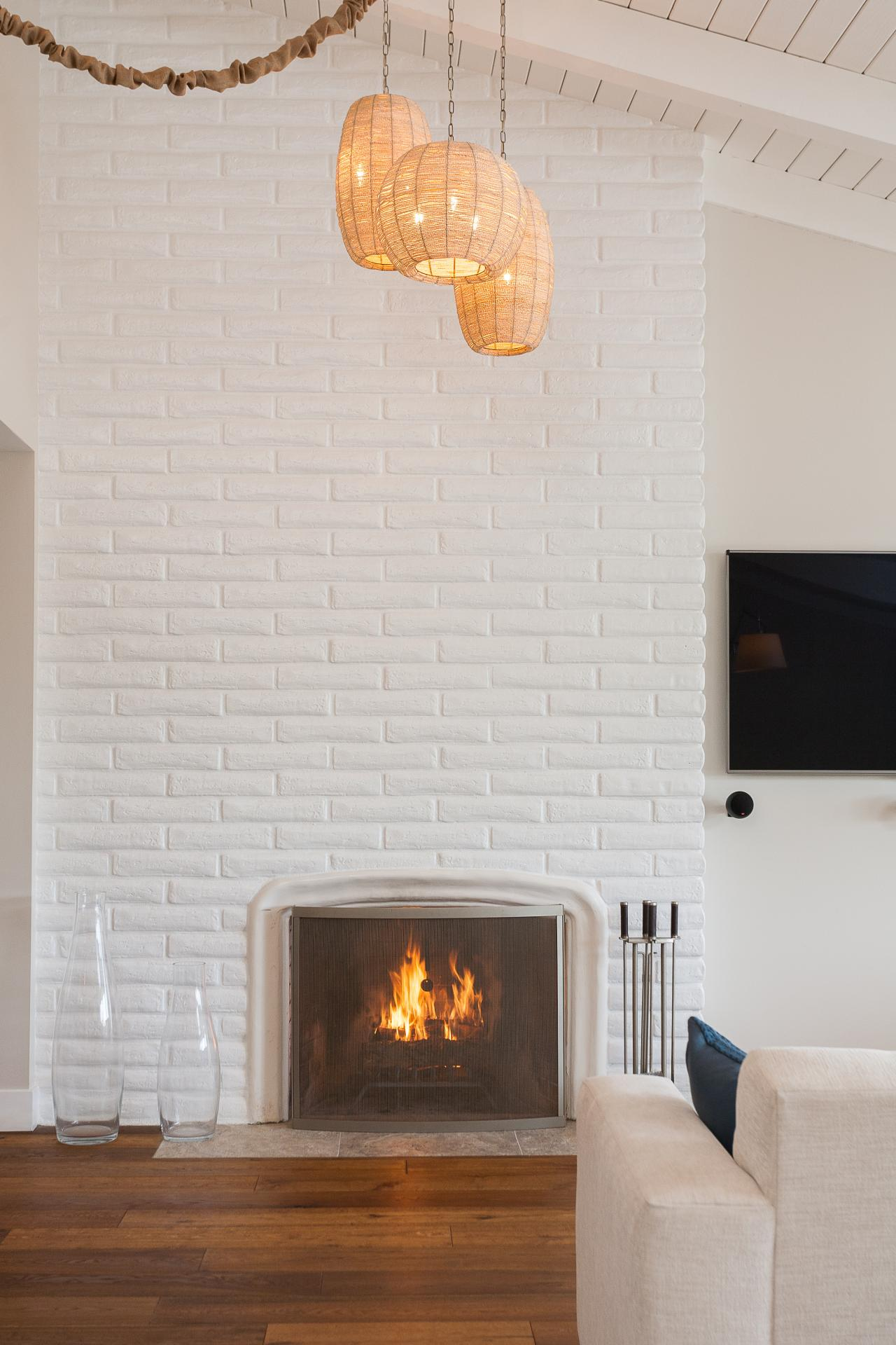 Painting An Old Fireplace 15 Gorgeous Painted Brick Fireplaces Hgtv S Decorating Design