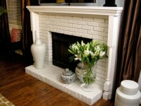 Brick Fireplaces with White Surround Mantels - Hearth and ...