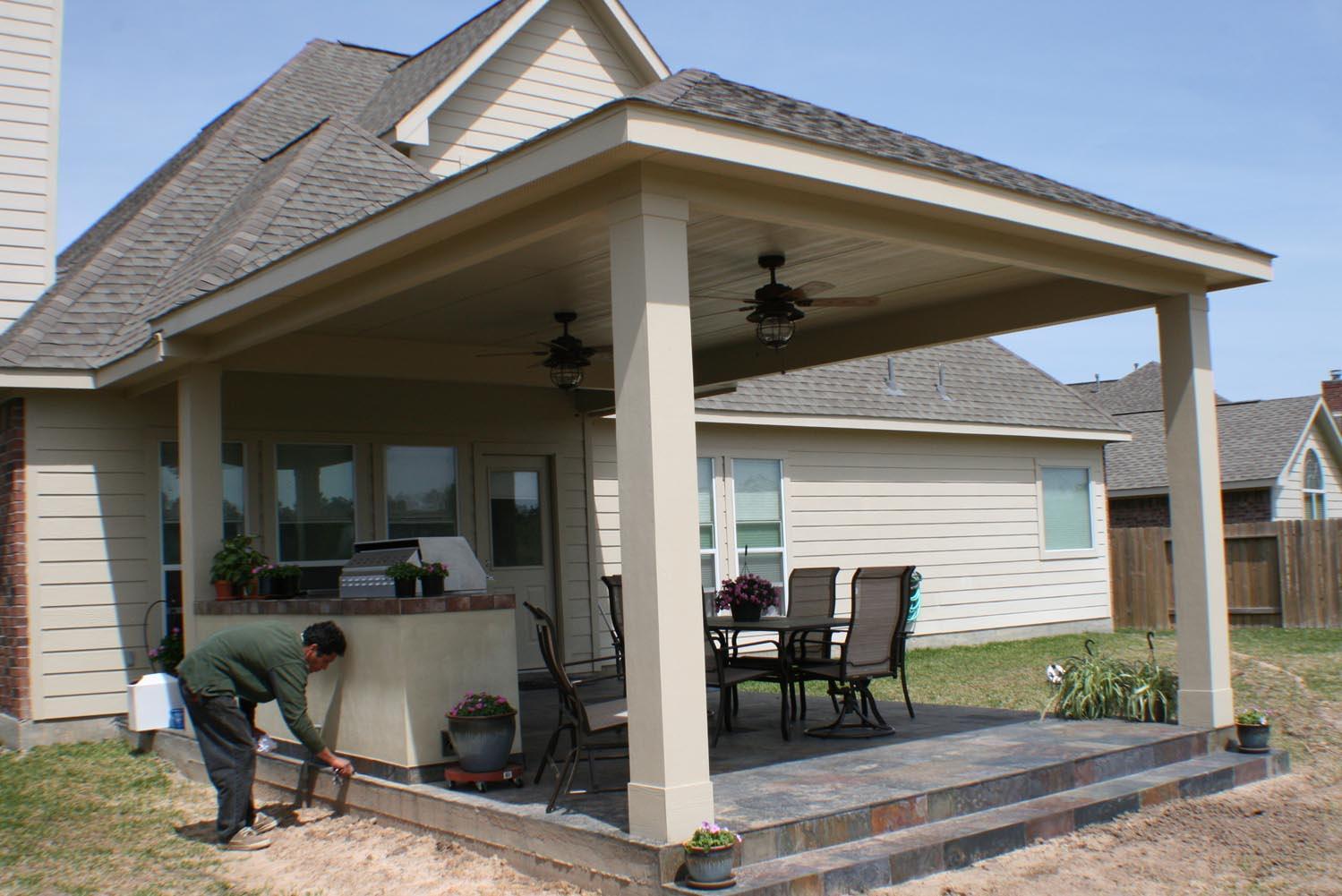 Outdoor Covers 16 By 20 Patio Cover Outdoor Kitchen Hhi Patio Covers