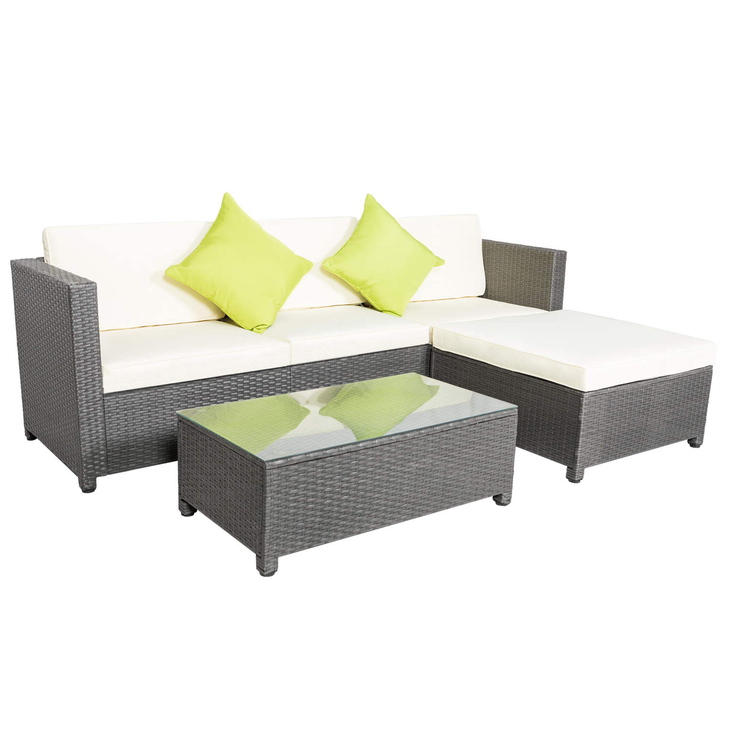 Rattan Sofa Details About 5pcs Outdoor Rattan Wicker Patio Set Garden Lawn Sofa Chair Furniture Cushioned