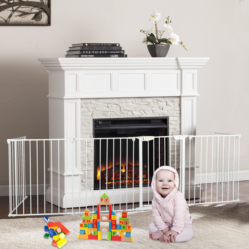 Fireplace Safety Screen Child Guard Details About Fireplace Fence Baby Safety Fence Hearth Gate Pet Gate Guard Metal Screen